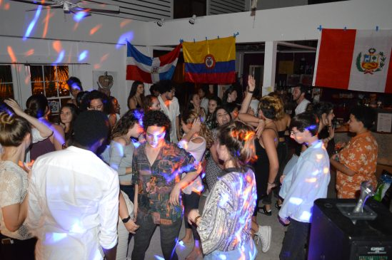 "Students dance to Caribbean rhythms at the Four Winds. ""We get it...Latinx people love 'Suavemente',"" first-year Sofia Jimenez said."