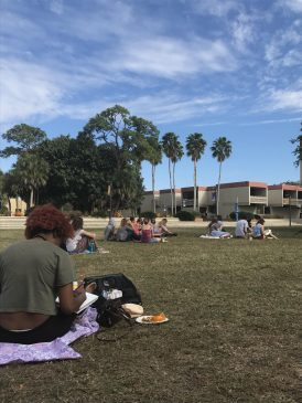 Students enjoyed a lazy Sunday on Z Green.
