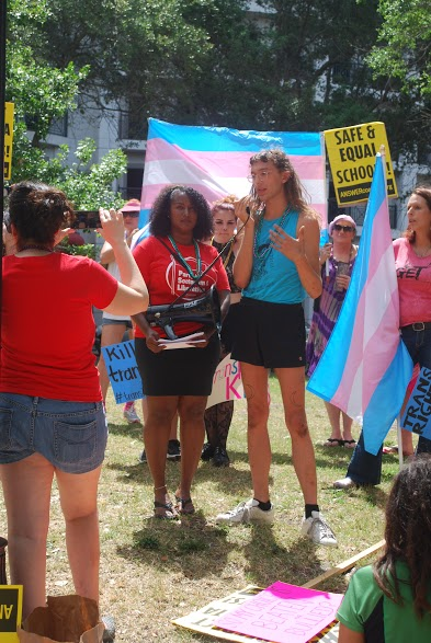 A Day of Action: Trans rights activists take to the streets for inclusive education policies