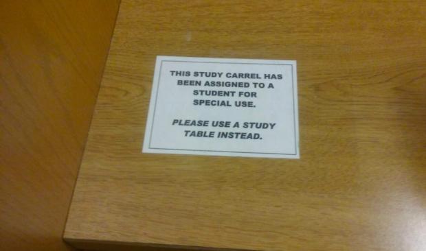 Randomly assigned thesis carrels get mixed reviews