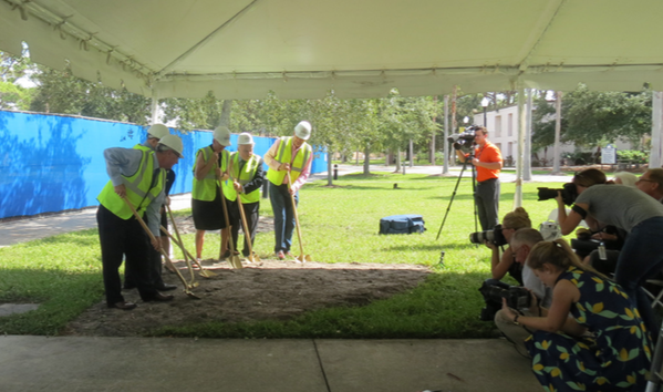 Ground is broken for new Heiser addition