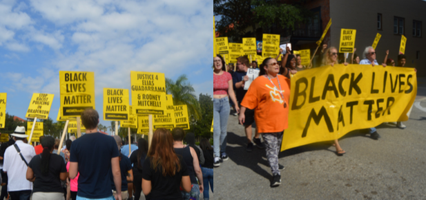 BLM protest marches through downtown Bradenton