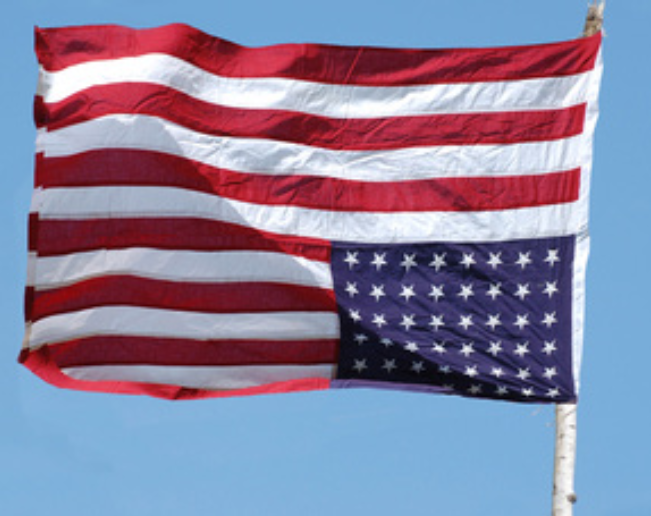 Upside-down flag trend goes national