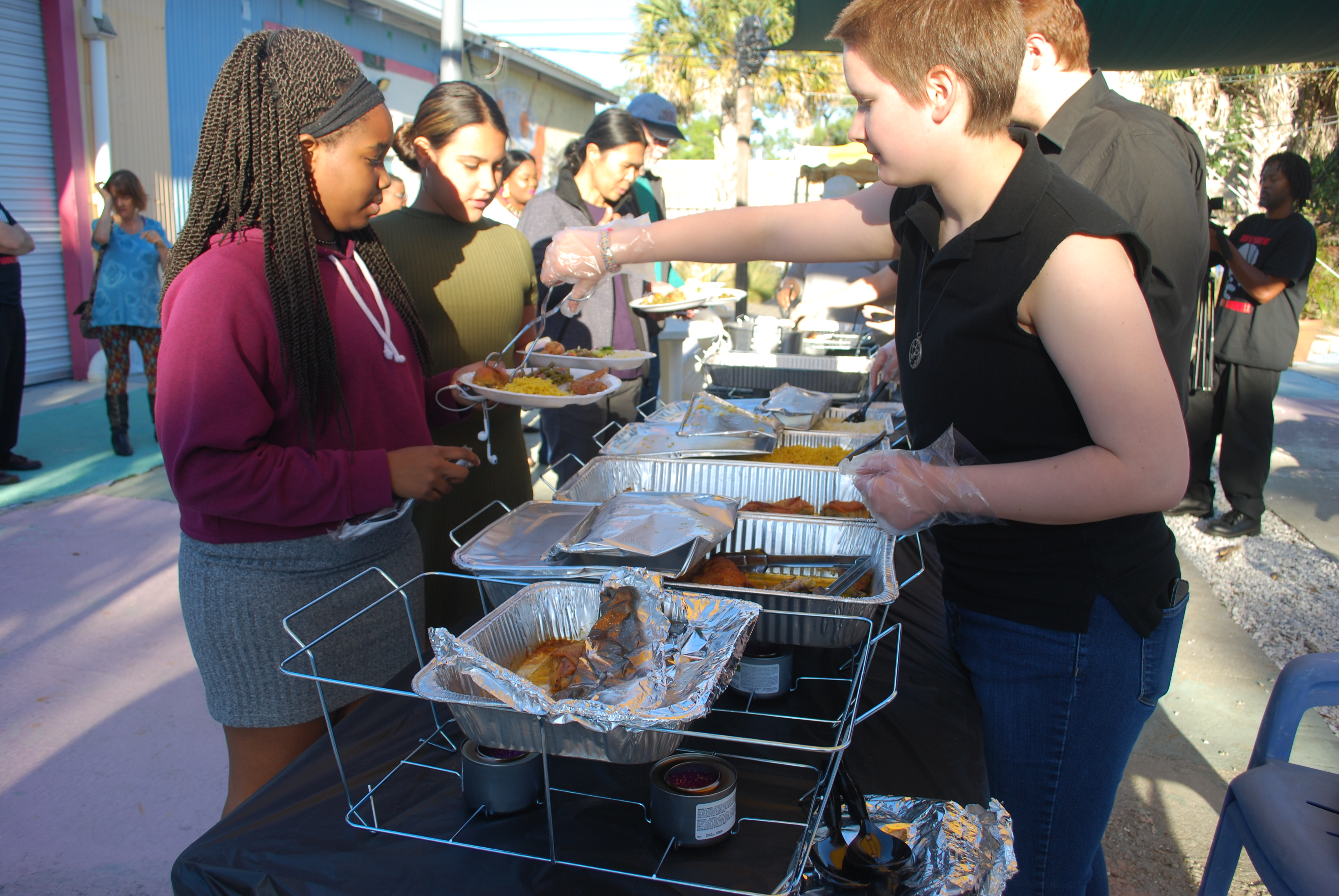 Local college students  gather to learn about  food insecurity