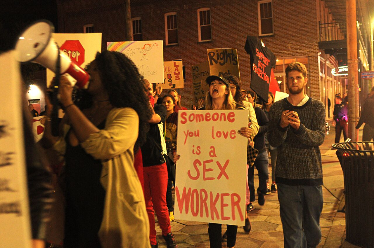Sex workers march in Ybor on International Sex Workers Rights Day