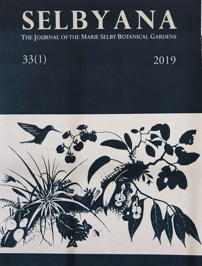 Jane Bancroft Cook Library and the Marie Selby Botanical Gardens present the Selbyana journal
