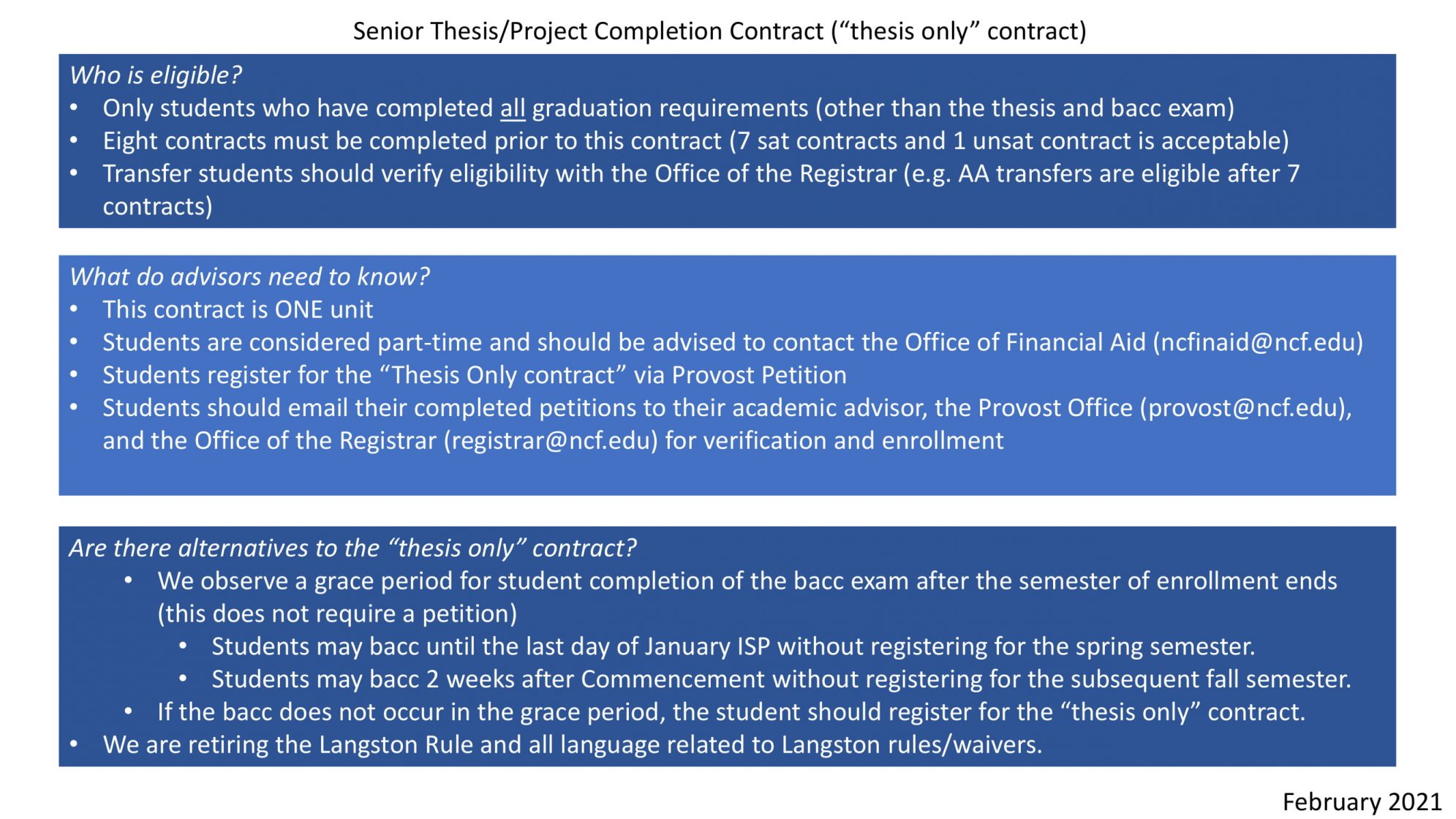 Follow-up: Langston Rule not gone, thesis-only contract seeks to solve its shortcomings