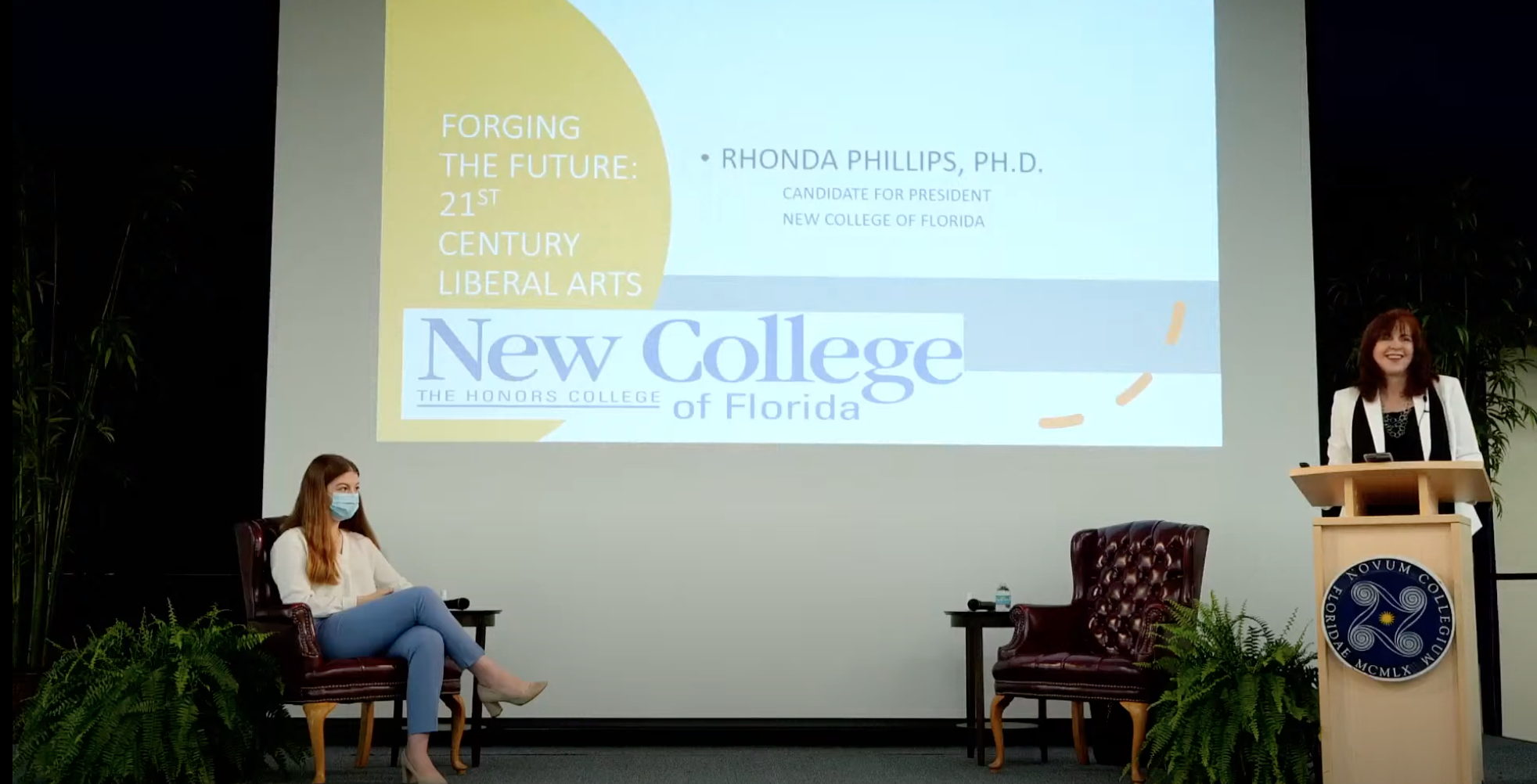 Presidential candidate Rhonda Phillips visits New College