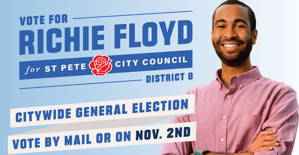 Middle school science teacher and democratic socialist Richie Floyd running for St. Pete city council